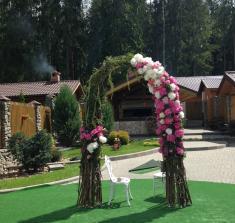Свадебная арка для выездной регистрации брака в Могилеве