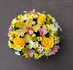 Купить Коробку цветов в желтых тонах с доставкой в Могилеве